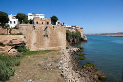 Andalusian wall at the river Bou Regret separates the city from the Atlantic Ocean. Rabat. Morocco Royalty Free Stock Photo