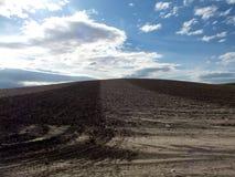 Andalusien-Landschaft auf Dramstic-Himmel Stockfotografie