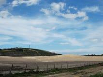 Andalusien-Landschaft auf Dramstic-Himmel Lizenzfreie Stockfotos