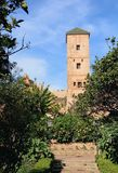 Andalusische Gärten in Udayas-kasbah Stockfotos