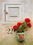 Andalusischer Flowerpot lizenzfreie stockbilder