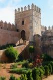 Andalusischer Garten von Udayas Kasbah in Rabat Lizenzfreie Stockfotos
