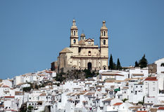 Andaluzyjski grodzki Olvera, Hiszpania Obrazy Royalty Free