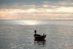 andaman över havssolnedgång Arkivfoto