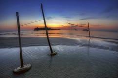 andaman заход солнца моря Стоковые Фото