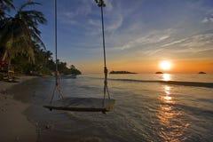 andaman мечтательный заход солнца моря Стоковое фото RF