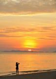 andaman море Таиланд phi острова девушки Стоковое Изображение