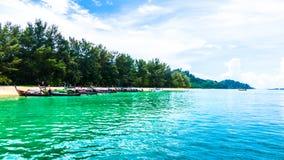 Andaman beach in thailand. Andaman green beach in Thailand Stock Photo