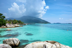 Andaman beautiful crystal sea with reef stone Royalty Free Stock Image