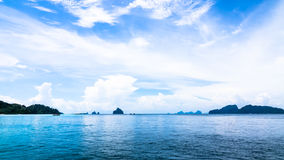 Andaman blue sea in Thailand Royalty Free Stock Image