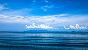 Andaman blue sea in Thailand Stock Photo