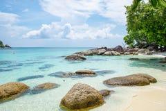 Andaman crystal sea white sand beach Stock Photography