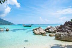 Andaman crystal sea white sand beach Royalty Free Stock Photography
