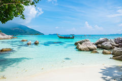 Andaman crystal sea white sand beach Stock Images