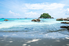 Andaman crystal sea white sand beach Royalty Free Stock Images