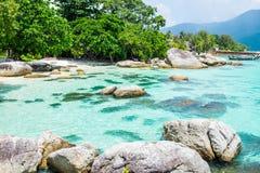 Andaman crystal sea white sand beach Stock Photos