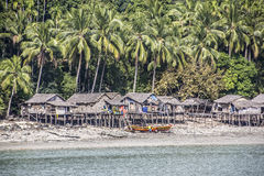 Andaman fishing village Stock Photo
