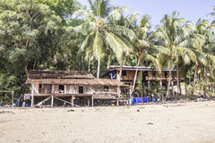 Andaman fishing village Royalty Free Stock Images
