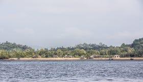 Andaman fiskeläge Arkivbilder