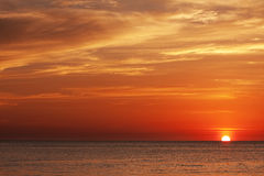 andaman havssolnedgång Royaltyfri Fotografi