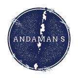 Andaman-Insel-Vektorkarte Stockfotografie