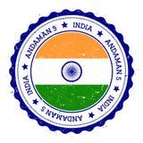 Andaman Islands flag badge. Royalty Free Stock Photo