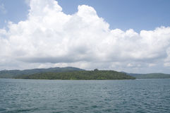 Andaman Islands. An island in the Andamans dotted with palm trees royalty free stock photos