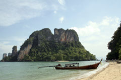 Andaman sea islands longtail beach krabi thailand Stock Images