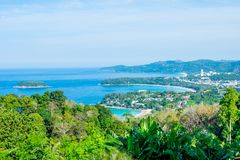 Andaman krajobraz Phuket Patong plaża, Karon plaża, Kat Bea Obrazy Royalty Free