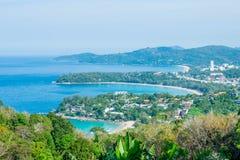 Andaman krajobraz Phuket Patong plaża, Karon plaża, Kat Bea Obraz Stock