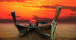 Andaman long tailed boat southern of thailand Stock Photos