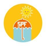 Andaman Meer Regenschirm, heller Sonnenschein Lizenzfreie Stockfotos