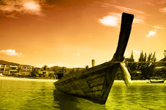 Andaman sea. Beautiful longtail boat in Thailand Royalty Free Stock Images