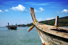 Andaman sea. Beautiful longtail boat in Thailand Stock Photos