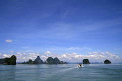 Andaman Sea. Islands in Andaman Sea in southern Thailand Royalty Free Stock Photos
