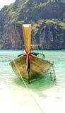Andaman Sea and boat. Maya bay, Phi Phi Leh island,Thailand Royalty Free Stock Images