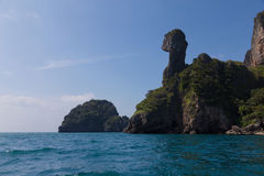 Andaman sea with Chicken Island south of Thailand Royalty Free Stock Photos