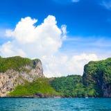 Andaman Sea Island. Jungle island in Andaman Sea, Krabi, Thailand Royalty Free Stock Photo