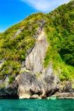 Andaman Sea Island. Rocky island in Andaman Sea, Krabi, Thailand Stock Photo