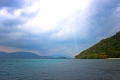 Andaman Sea Islands in cloudy weather Royalty Free Stock Image
