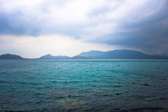 Andaman Sea Islands in cloudy weather Royalty Free Stock Images