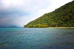 Andaman Sea Islands in cloudy weather Stock Photography