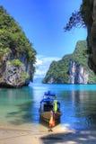 Andaman Sea, Krabi, Thailand. Travel Asia, the nature of Thailand, Thai boat, outdoor recreation, Andaman Sea Stock Image