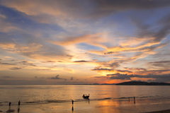 Andaman Sea krabi thailand. Andaman Sea, Thailand,Tropical beach, long tail boats, Thailand,Long tail boats on beach,Andaman Sea,krabi,thailand,sunset,island Stock Images