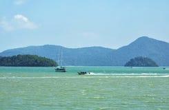Andaman sea near Langkawi island, Malaysia Royalty Free Stock Images