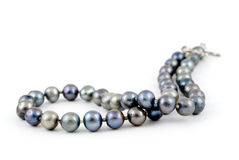 Andaman Sea Pearl Necklace. A beautiful necklace made of pearls of the Andaman sea of the coast of Thailand, on a white background. Adobe RGB color profile Royalty Free Stock Image