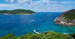 Andaman sea at south of Thailand. Use tele photo lens for zoom royalty free stock images