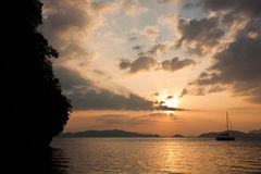 Andaman Sea Sunset royalty free stock photo