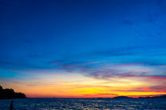 Andaman sea sunset background on the sky Stock Image