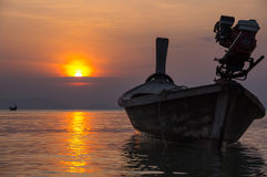 Andaman sea on sunset Stock Images